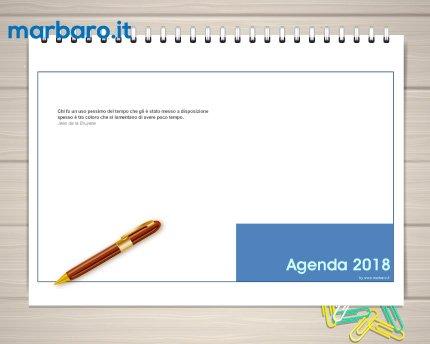 Agenda 2018 da tavolo settimanale in pdf da stampare - Agenda da tavolo settimanale ...