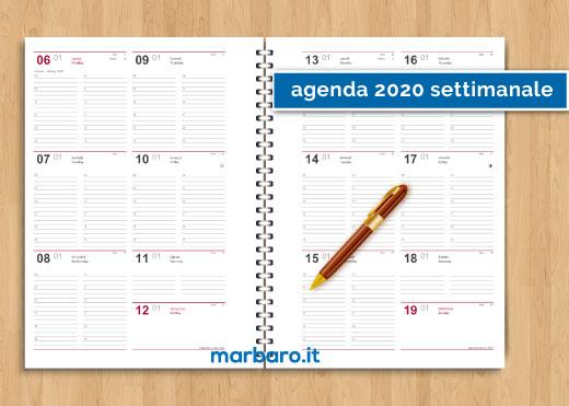 Calendario Da Tavolo 2020 Gratis.Agenda 2020 Settimanale Da Stampare Scarica Gratis Il Pdf
