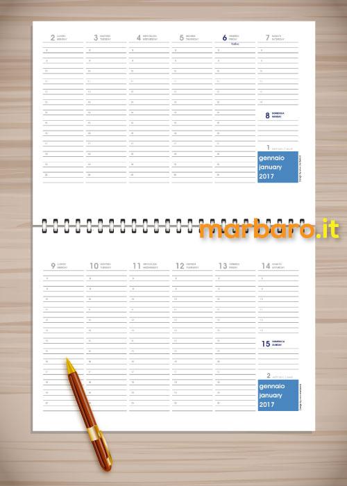 Agenda planning 2017 settimanale da tavolo pdf da stampare - Planning settimanale da tavolo ...