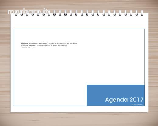 Popolare Agenda planning 2017 settimanale da tavolo, PDF da stampare WB42