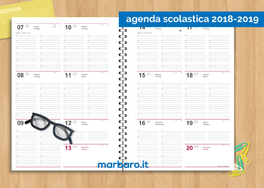 Calendario Giornaliero Da Stampare 2019.Download Agende 2019 Da Stampare