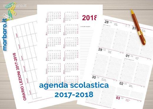 Agenda scolastica 2017 2018 da stampare settimanale - Agenda da tavolo 2017 ...