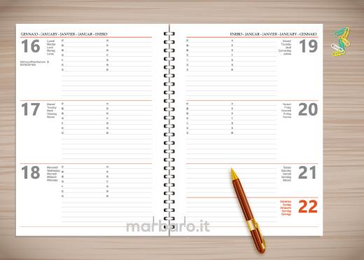 Agenda stampabile 2017 agenda settimanale da scaricare gratis - Agenda da tavolo settimanale ...