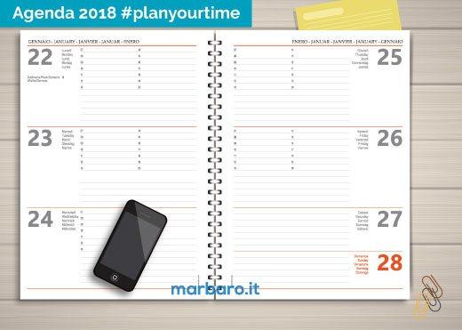 Agenda stampabile 2018 settimanale da scaricare gratis in pdf - Agenda da tavolo settimanale ...