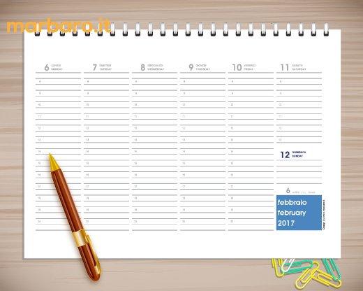 Agende 2017 da stampare agende da scaricare gratis in pdf - Planning settimanale da tavolo ...