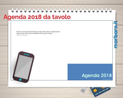 Agende 2018 da stampare agende settimanali da scaricare in pdf - Calendari da tavolo 2018 ...