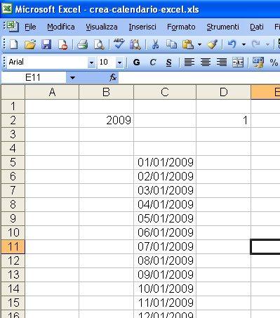 Come Creare Un Calendario Personalizzato.Come Creare Un Calendario Con Excel Con Le Funzioni Presenti