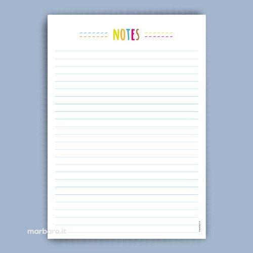 Block notes da stampare fogli block notes da scaricare gratis - Fogli da colorare per la marmotta diurna ...