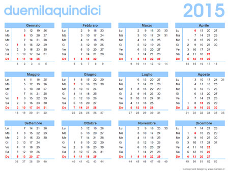 Calendario Anno 2015 Mensile.Calendario 2015 Da Stampare Scarica Gratis Il Calendario