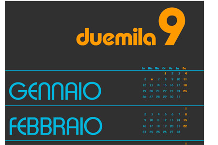 Schermata del calendario orange duemila9