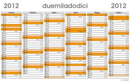 Calendario Con Numero Settimane.Planner 2012 Calendario Planning In Pdf
