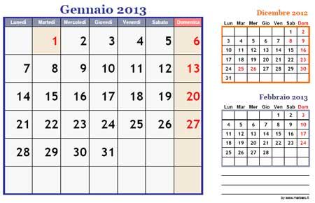 Calendario 12 Mesi.Calendario 2013 12 Mesi Da Stampare