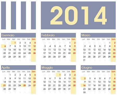 Calendario Anno 2014.Calendario Dell Anno 2014 Da Scaricare