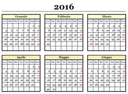Scarica gratis i calendari per l'anno 2016 , annuali su una pagina. In ...