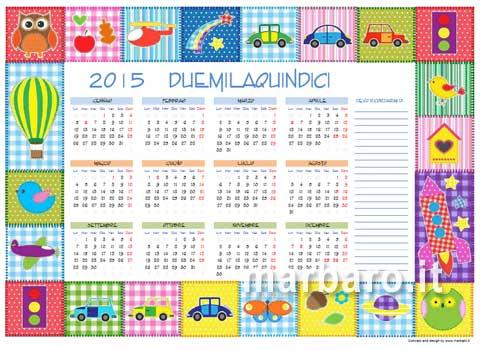 Calendari 2015 con le festivit italiane in pdf da stampare - Calendario da tavolo con foto proprie ...