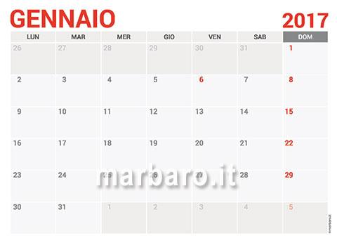 Calendario Marbaro.Calendari Gratis Da Stampare Con Le Festivita Italiane