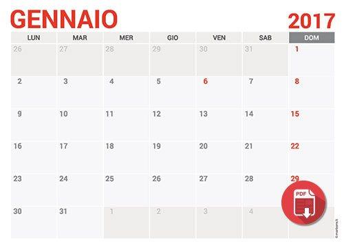 Calendari 2017 da stampare annuali mensili planner - Calendario da tavolo 2017 ...