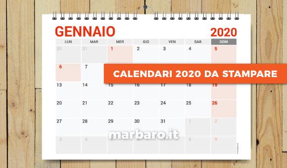 Calendario Luglio 2020 Da Stampare.Applicazioni Excel Calendari Cartelli E Moduli Da Stampare