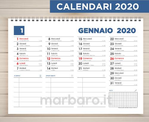 Calendario 2020 Da Stampare Gratis.Calendari Gratis Da Stampare Con Le Festivita Italiane