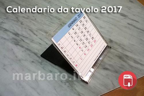 Calendari 2017 da stampare annuali mensili planner - Calendario 2017 da tavolo ...