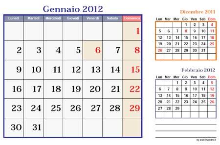 Per scaricare il pdf di &;calendario 2012 mensile orizzontale&; clicca