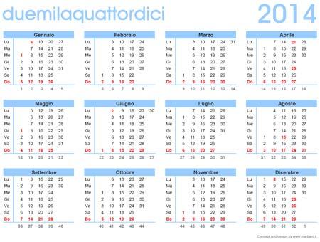 calendario 2014 da stampare calendario 2014 gratis in pdf