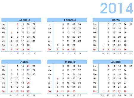 calendario 2014 tascabile da