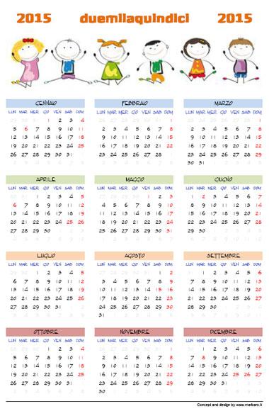 calendario xls 2015