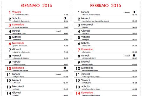 Santi Del Calendario.Calendario 2016 Con Santi E Lune Fasi Lunari Da Stampare