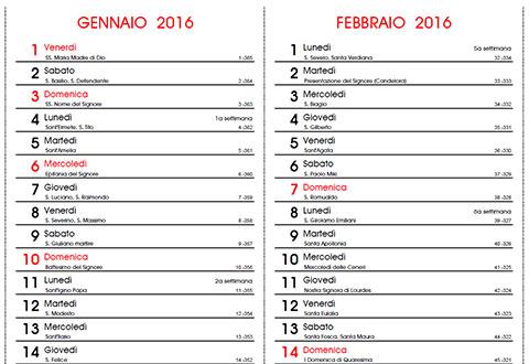 Tutti I Santi Del Calendario.Calendario 2016 Con Santi E Lune Fasi Lunari Da Stampare