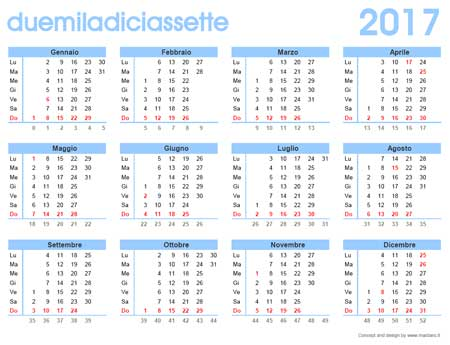 Calendario gratis 2017