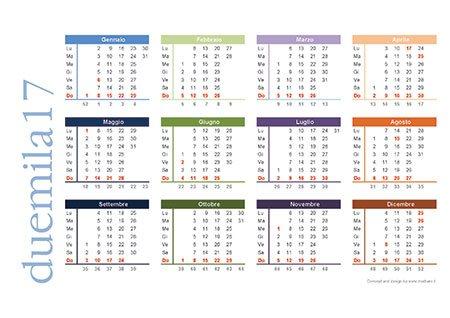 Calendario 2017 da scaricare gratis e stampare - Calendario 2017 da tavolo ...