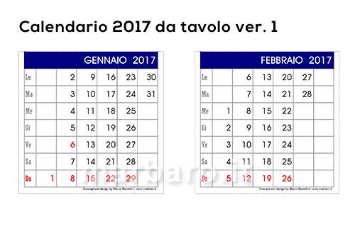 5 calendari 2017 da tavolo o scrivania per la casa e l 39 ufficio - Calendario 2017 da tavolo ...
