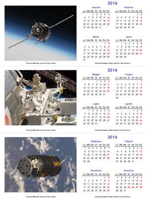 Calendario Gennaio 2013 - Con santi e fasi lunari
