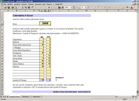 Excel Calendario Automatico.Crea Il Tuo Calendario Annuale Con Excel