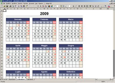 Calendario Annuale Excel.Crea Il Tuo Calendario Annuale Con Excel