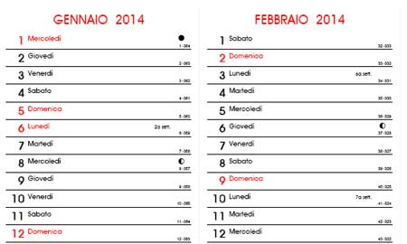 Calendario Per Appunti.Calendari Mensili 2014 Gratis Da Scaricare