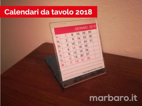 Calendario da tavolo 2018 mensile o annuale da stampare
