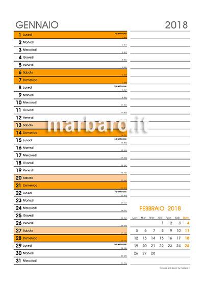 Calendario Olandese Da Stampare.Calendario 2018 Mensile Da Stampare Scarica Gratis Il Tuo