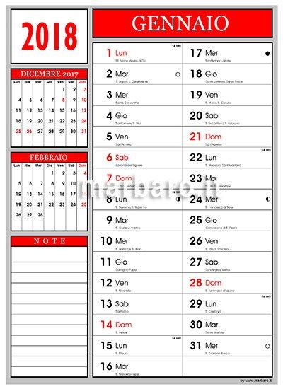 Calendario Dicembre 2020 Con Santi.Calendario 2018 Con I Santi