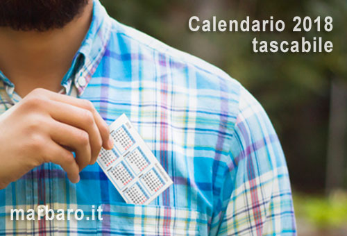 Calendario tascabile 2018