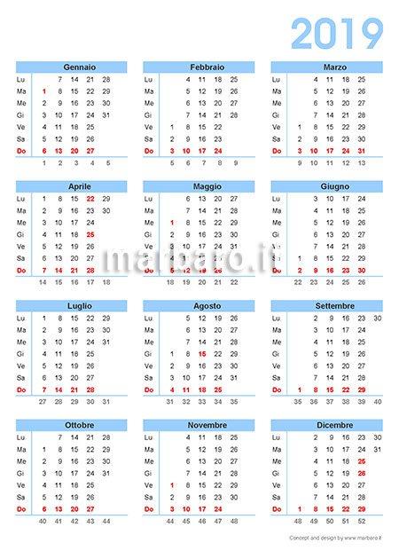 Calendar Excel Sia : Calendario da stampare pdf scaricare gratis