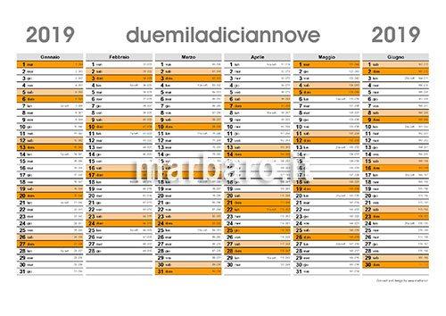 Planner 2019 Da Stampare Scarica Gratis Il Pdf Del Tuo Calendario