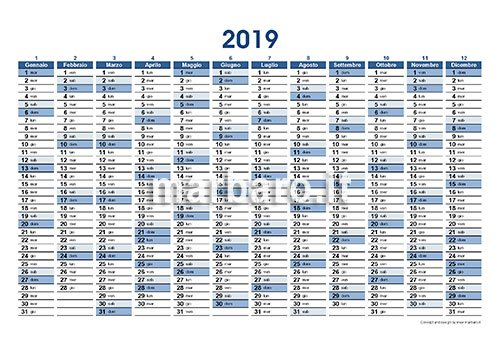 Calendario Annuale Da Stampare 2019.Planner 2019 Da Stampare Scarica Gratis Il Pdf Del Tuo