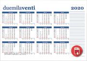 Calendario 2020 Con Le Settimane.Calendario 2020 Con Settimane E Numero Giorni In Pdf