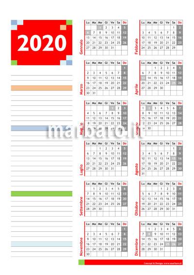 Calendario 2020 Pdf Con Festivita.Calendario 2020 Da Stampare 10 Calendari Da Scaricare