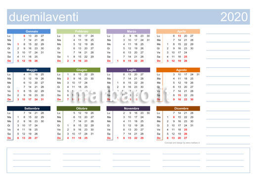 Calendario 2020 Pdf Gratis.Calendario 2020 Da Stampare 10 Calendari Da Scaricare