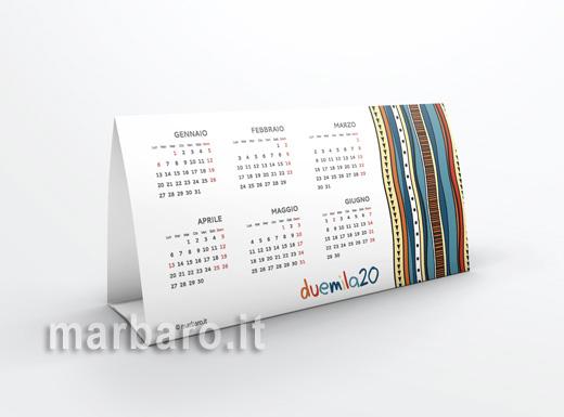 Calendario 2020 da tavolo annuale