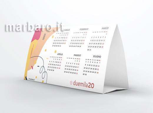 Calendario annuale 2020 da tavolo
