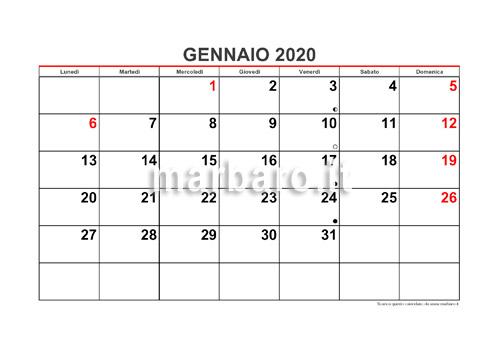 Calendario 2020 Mensile Da Stampare Gratis.Calendario 2020 Mensile Da Stampare Scarica Gratis Il Pdf